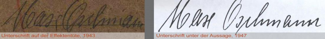Oschmman Unterschriften